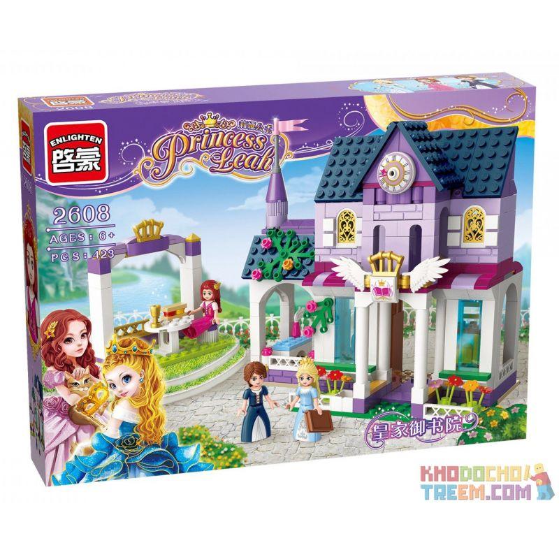 Enlighten 2608 Qman 2608 Xếp hình kiểu Lego PRINECESS LEAH Prinecess Leah Poyal Library Princess Lay Royal Royal Studies Thư Viện Hoàng Gia 423 khối