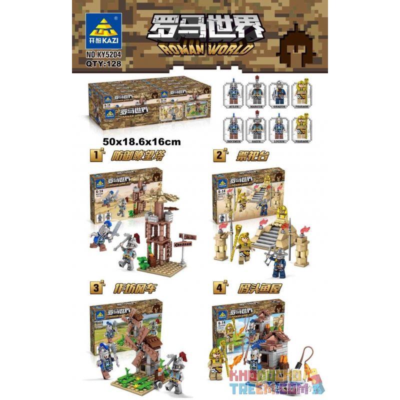 Kazi KY5204 5204 KY5204-1 5204-1 KY5204-2 5204-2 KY5204-3 5204-3 KY5204-4 5204-4 Xếp hình kiểu Lego CASTLE Roman World Thế Giới La Mã gồm 4 hộp nhỏ 423 khối