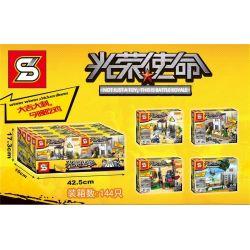 Sheng Yuan 993 SY993 (NOT Lego PUBG Battlegrounds Battle Royale ) Xếp hình Trò Chơi Sinh Tồn gồm 4 hộp nhỏ 422 khối