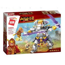 Enlighten 3804 Qman 3804 Xếp hình kiểu Lego MONKIE KID WUKONG Journey To The West Blocked Lion Ngộ Không Đại Chiến Voi Khổng Lồ 420 khối