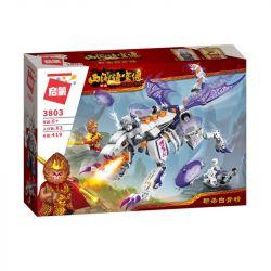 Enlighten 3803 Qman 3803 Xếp hình kiểu Lego MONKIE KID WUKONG Journey To The West Kill White Bones Ngộ Không Đại Chiến Rồng Khổng Lồ 419 khối