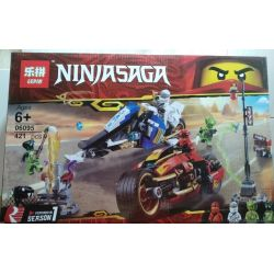 Lepin 06095 Bela 11161 Sheng Yuan 1252C SY1252C 1252D SY1252D (NOT Lego Ninjago Movie 70667 Kai's Blade Cycle & Zane's Snowmobile ) Xếp hình Xe Đạp Lưỡi Đao Của Kai Và Xe Trượt Tuyết Của Zane gồm 2 hộ