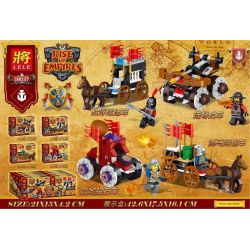 LELE 39037 Xếp hình kiểu Lego RISE OF EMPIRES Rise Of The Empire 4 Prisoners Of War In The Chariot, Even The Chariot, The Squirrel, The Junction Đế Chế Trỗi Dậy 415 khối