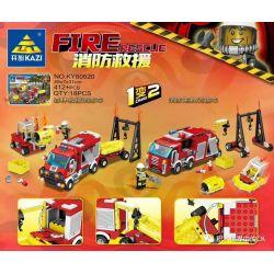 Kazi KY80520 80520 Xếp hình kiểu Lego FIRE RESCURE Fire Rescue Forest Rescue Fire Truck, Fire Drag Transport Vehicle 1 Change 2 Xe Cứu Hỏa Cứu Rừng, Xe đầu Kéo Chữa Cháy 1 đến 2 412 khối