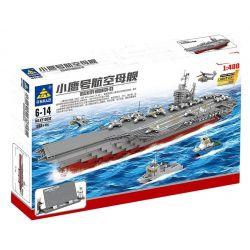 Kazi KY10002 10002 Xếp hình kiểu Lego MILITARY ARMY USS Kitty Hawk CV-63 Xiaoyu Number Aircraft Carrier 1 400 Tàu Sân Bay Kitty Hawk CV-63 1868 khối