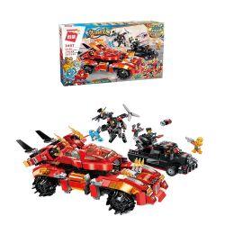 Enlighten 3407 Qman 3407 Xếp hình kiểu Lego POWER SQUAD Canada Hao Yan Brake Siêu Xe Chiến Đấu 1134 khối