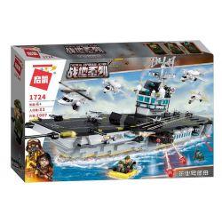 Enlighten 1724 Qman 1724 Xếp hình kiểu Lego TACTICAL ESPIONAGE ACTION Battlefield Series Enterprise Number Aircraft Carrier Tàu Sân Bay 1007 khối