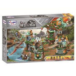 Winner 8053 Xếp hình kiểu Lego JURASSIC WORLD Jurassic Warfare Dinosaur Tribe Khu Nhà Trên Cây 1000 khối