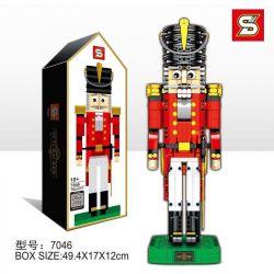 NOT Lego MISCELLANEOUS 4002017 Employee Gift Nutcracker , LEPIN 16063 SHENG YUAN SY 7046 Xếp hình Chú Lính Chì 732 khối