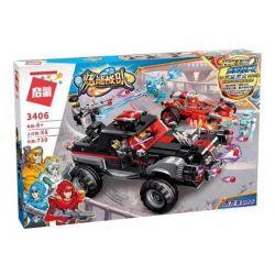 Enlighten 3406 Qman 3406 Xếp hình kiểu Lego POWER SQUAD Canada Poison Dragon Gravity Pickup Siêu Xe Chiến Đấu 730 khối