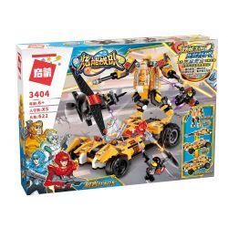 Enlighten 3404 Qman 3404 Xếp hình kiểu Lego POWER SQUAD Canada Extreme Rock Fit Xe đua Vàng Biển đổi Thành Người Máy Chiến đấu 622 khối
