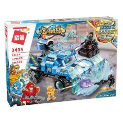 Enlighten 3405 Qman 3405 Xếp hình kiểu Lego POWER SQUAD Canada Ice Shield Xe địa Hình Phá Băng 596 khối