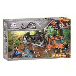Winner 8052 Xếp hình kiểu Lego JURASSIC WORLD Dinosaur Capture Truck Jurassic Warfare Parlet-catching Truck Khủng Long Nổi Giận 551 khối