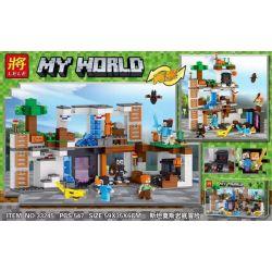 LELE 33245 Xếp hình kiểu Lego MINECRAFT My World Stanmos Rock Adventure Cuộc Phiêu Lưu Dưới đáy đá Stammus 547 khối
