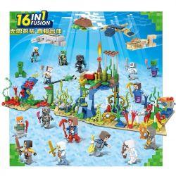 Sheng Yuan 1162 (NOT Lego Minecraft My World ) Xếp hình Thế Giới Dưới Biển 16 Trong 1 543 khối