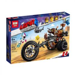 LARI 11247 LEPIN 45011 Xếp hình kiểu THE LEGO MOVIE 2 THE SECOND PART MetalBeard's Heavy Metal Motor Trike! Lego Movie 2 Bouvet's Heavy Metal Three-wheeled Motorcycle Xe Mô Tô Hạng Nặng 461 khối
