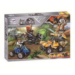 Winner 8051 Xếp hình kiểu Lego JURASSIC WORLD Dinosaur Capture Jeep Jurassic Warfare Dragon Chiến đấu Với Khủng Long 440 khối
