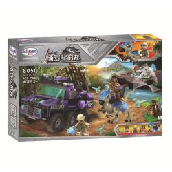 Winner 8050 Xếp hình kiểu Lego JURASSIC WORLD Dinosaur Capture SUV Jurassic Warfare Dragon Off-road Vehicle Thế Giới Khủng Long 422 khối