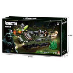 SLUBAN M38-B0719B B0719B 0719B M38B0719B 38-B0719B Xếp hình kiểu Lego ALIEN VS. PREDATOR The Predator Head-shaped Battle, Blood Warrior Bloodseller Armored Vehicle Chiến Đấu Với Người Ngoài Hành Tinh