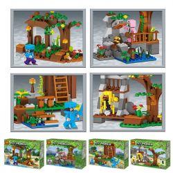 LELE 33135 33135A 33135B 33135C 33135D Xếp hình kiểu Lego MINECRAFT My World Bookstore Small Scene 4 4 in 1 Hiệu Sách Cảnh Nhỏ 4 Phong Cách 4 Trong 1 Minecraft Hiệu Sách Cảnh Nhỏ 4 Phong Cách 4 Tron