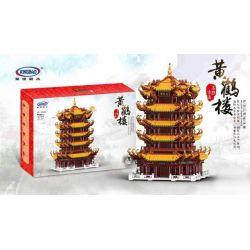 XINGBAO XB-01024 01024 XB01024 Xếp hình kiểu Lego MODULAR BUILDINGS Raceful Monument Yellow Crane Tower Chùa Tháp Trung Quốc 6794 khối