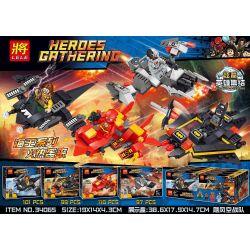 Lele 34065 (NOT Lego Super Heroes Heroes Gathering ) Xếp hình Phi Thuyền Siêu Anh Hùng 407 khối