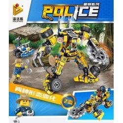 PanlosBrick 681004A Panlos Brick 681004A Xếp hình kiểu Lego Police Jungle Logging Machine Máy đăng Nhập Rừng 404 khối