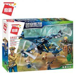 Enlighten 1922 Qman 1922 Xếp hình kiểu Lego Battle Force Police Series Fishwell Attack Osprey đình Công 402 khối