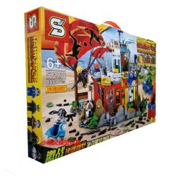 SHENG YUAN SY SY1232 1232 Xếp hình kiểu Lego PUBG BATTLEGROUNDS Jedi Survival Guild Wars Beach Villa Trò Chơi Sinh Tồn 888 khối