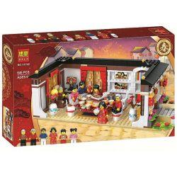 Bela 11142 Lari 11142 KING 80016 LEJI 13001 LEPIN 46001 SHENG YUAN SY 1260 Xếp hình kiểu Lego SEASONAL Chinese New Year's Eve Dinner Spring Festival New Year's Eve Bữa Tối đêm Giao Thừa 615 khối