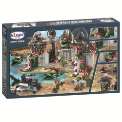 Winner 5063 Xếp hình kiểu Lego CROCODILE SPECIAL FORCES Magic Crocodile Team Magic Crocodile Main Battle Command Base Pháo đài Cá Sấu 596 khối