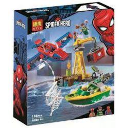 NOT Lego MARVEL SUPER HEROES 76134 Spider-Man: Doc Ock Diamond Heist, Bela 11185 Lari 11185 LEPIN 07116 Xếp hình Tàu bay của người nhện 150 khối
