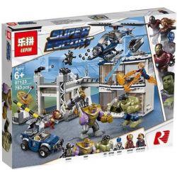 Bela 11262 Lari 11262 JISI 7139 LEPIN 07123 SHENG YUAN SY SY1334 1334 Xếp hình kiểu Lego MARVEL SUPER HEROES Avengers Compound Battle Avengers Union Battle Cuộc Tổng Tấn Công Của Avengers 699 khối