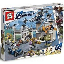 NOT Lego MARVEL SUPER HEROES 76131 Avengers Compound Battle, Bela 11262 Lari 11262 JISI 7139 LEPIN 07123 SHENG YUAN SY SY1334 1334 Xếp hình Cuộc tổng tấn công của Avengers 699 khối