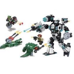 Winner 5062 Xếp hình kiểu Lego CROCODILE SPECIAL FORCES Magic Crocodile Team Raptors Chiến đấu Với Người Cá Sấu 490 khối