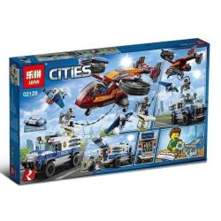 NOT Lego CITY 60209 Diamond Heist Air Special Police Diamond Robbery , LARI 11209 LEPIN 02128 Xếp hình Diamond Heist 400 khối