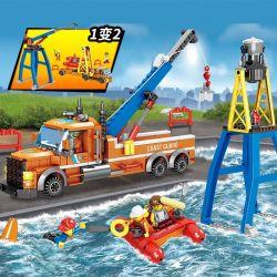 Kazi KY80523 80523 Xếp hình kiểu Lego FIRE RESCURE Fire Rescue Rescue Drag Transport Vehicle, Hydraulic Weightlifting Rescue Vehicle 1 Change 2 Xe đầu Kéo Cứu Hộ, Xe Cứu Hộ Thủy Lực 1 đến 2 405 khối