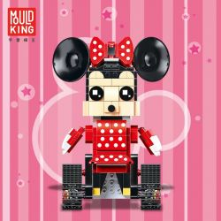 MOULDKING 13042 Xếp hình kiểu Lego WALKING BRICK Walking Brick Mimi-Mouse Fang Hengbao Fang Tianmei Chuột Mimi Có Bánh Xe Di Chuyển 399 khối
