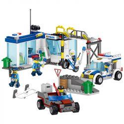 LELE 28004 28004-1 28004-2 28004-3 28004-4 Xếp hình kiểu Lego CITY Policemen Road Card Arrests 4 Trạm Cảnh Sát gồm 4 hộp nhỏ 398 khối