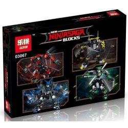 Lepin 03067 (NOT Lego Ninjago Movie 4 Phantom Ninja Mech ) Xếp hình 4 Người Máy Ninja gồm 4 hộp nhỏ 1363 khối