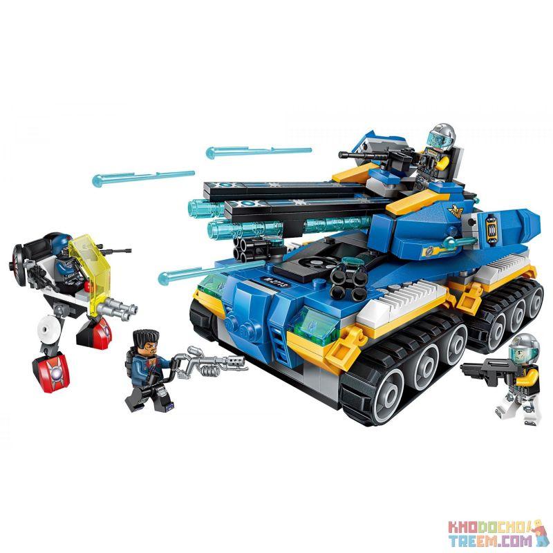 Enlighten 2713 Qman 2713 Xếp hình kiểu Lego THE HIGH-TECH ERA Technology Era I Tianqi Tank Xe Tăng Công Nghệ Cao 398 khối