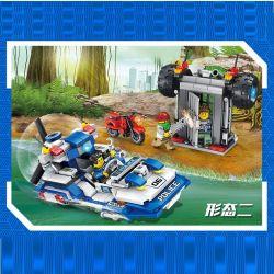PanlosBrick 681004B Panlos Brick 681004B Xếp hình kiểu Lego Police Series Police Car Truck Xe Bán Tải Của Cảnh Sát 398 khối