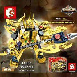 SEMBO 11888 Xếp hình kiểu Lego KING OF GLORY HEGEMONY Gold Samurai Chiến Binh Vàng 397 khối