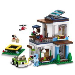 LELE 33078 Xếp hình kiểu Lego MINECRAFT MY WORLD Modern Single-family 3in1 Ngôi Nhà Hiện đại 3 Trong 1 396 khối