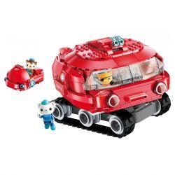 Enlighten 3707 Qman 3707 Xếp hình kiểu Lego OCTONAUTS Seabed Small Column Horsoes Tàu Ngầm Bánh Xích 395 khối