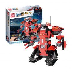 MOULDKING 13001 Xếp hình kiểu Lego WALKING BRICK Smart Build Creative Play Yuxing Team Battlefield No. 1 Red M1 Intelligent Robot Assembled Remote Control Robot điều Khiển Từ Xa 395 khối điều khiển từ