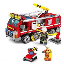 SEMBO 603034 Xếp hình kiểu Lego FIRE RESCURE Fire Frontline Fire Front Line Fire Truck 27in1 Search And Rescue Robot And Fire Hydrant Đội Xe Cứu Hỏa Lắp được 27 Mẫu 394 khối