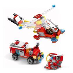 SEMBO 603034 Xếp hình kiểu Lego FIRE RESCURE Fire Frontline Đội xe cứu hỏa lắp được 27 mẫu 394 khối