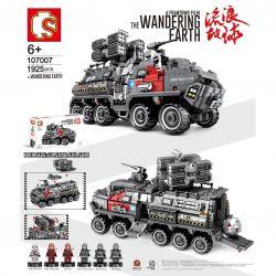 SEMBO 107007 Xếp hình kiểu Lego THE WANDERING EARTH Military Truck CN171 Troop Carrier Large Xe Bọc Thép Chiến đấu 1925 khối