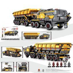 SEMBO 107008 Xếp hình kiểu Lego THE WANDERING EARTH Cargotruck-Iron OreTruck CN373 Bucket Carrier Large Xe Tải Khai Thác Quặng 1535 khối